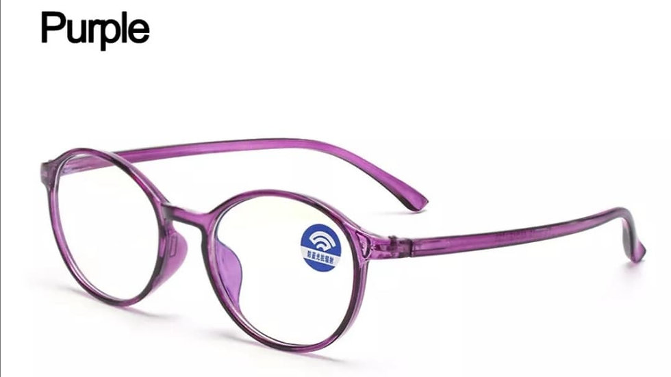 Purple Rounded Migraine Glasses