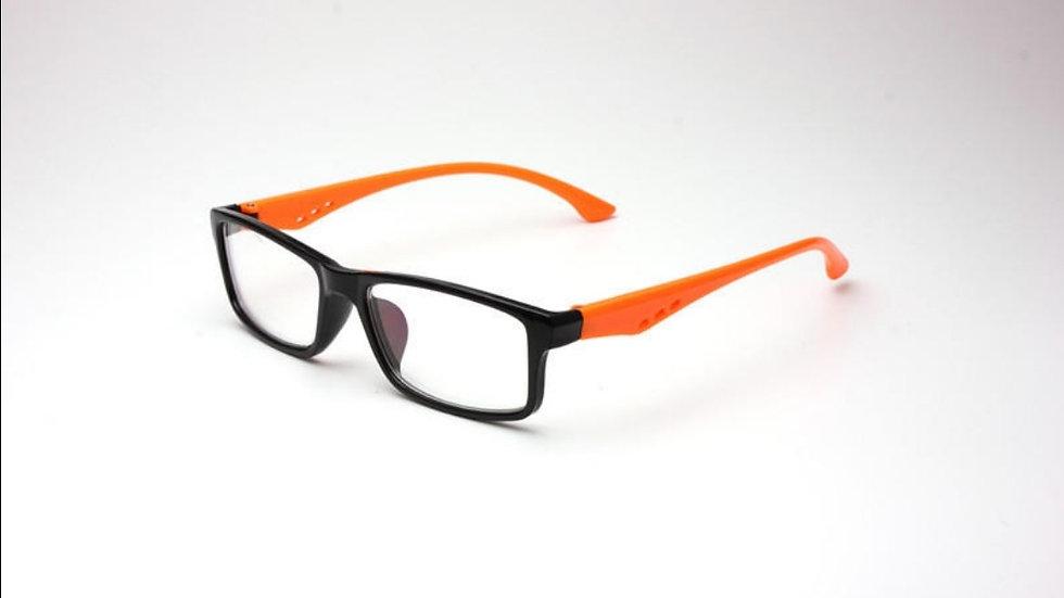 Migraine Glasses Black Orange