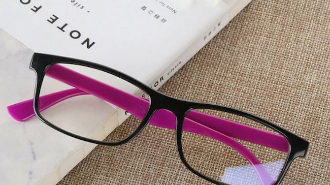 Black and Pink Migraine Glasses
