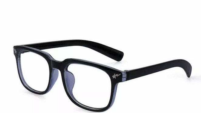 Black and Blue Migraine Glasses