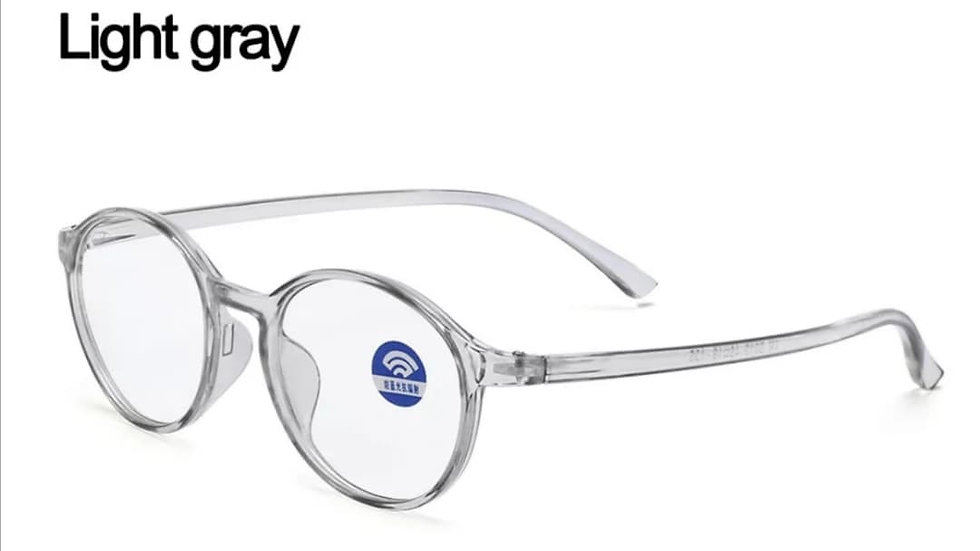 Light Grey Rounded Migraine Glasses
