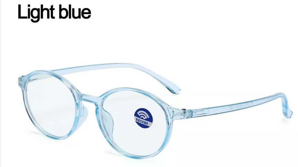 Light Blue Rounded Migraine Glasses