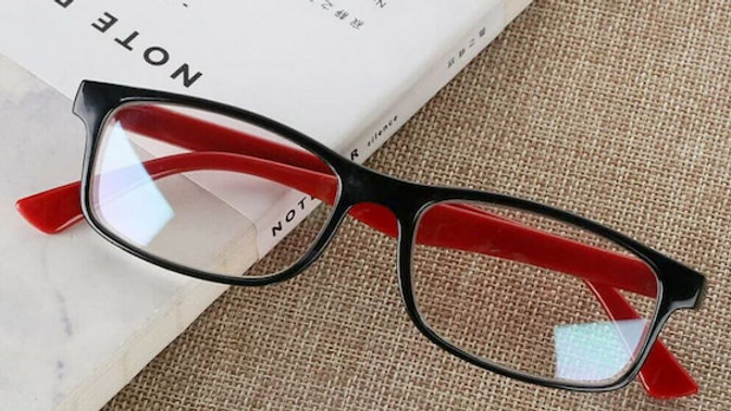 Black and Red Migraine Glasses