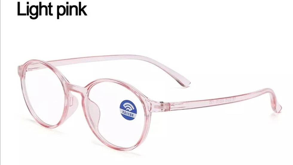 Light Pink Rounded Migraine Glasses