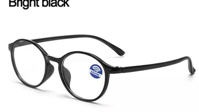 Bright Black Round Migraine Glasses