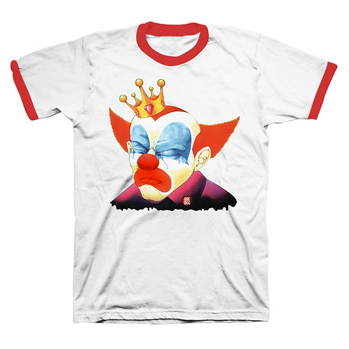 Tears Of A Clown Red Ringer T-Shirt