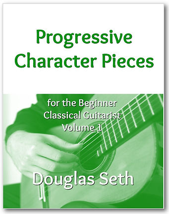 Image of Progressive Character Pieces for Beginner Classical Guitarists by Douglas Seth: a downloadable PDF for sale