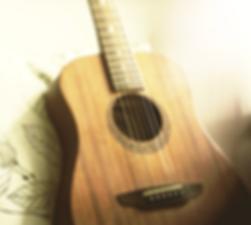 Image of beautiful classical guitar