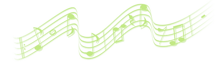 Image of a musical staff with musical notes