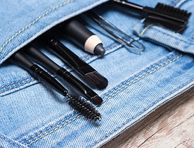 Eye Makeup Accessories in Jeans Pocket