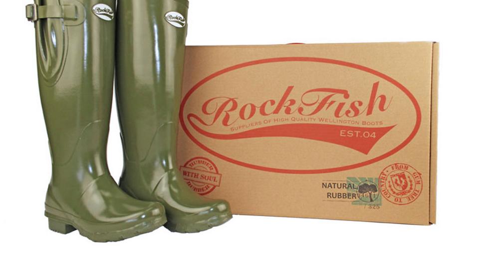 Rockfish Women's Tall Adjustable Gloss Wellington