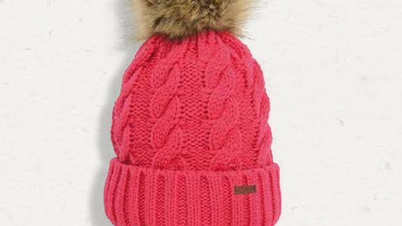 HyFASHION Melrose Cable - Knit Bobble Hat