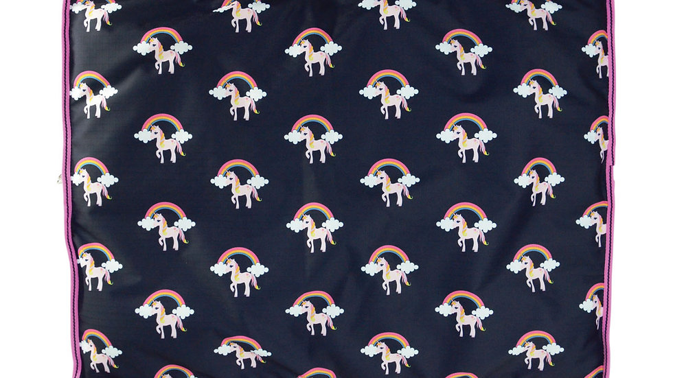 Hy Unicorn Print Dog Bed