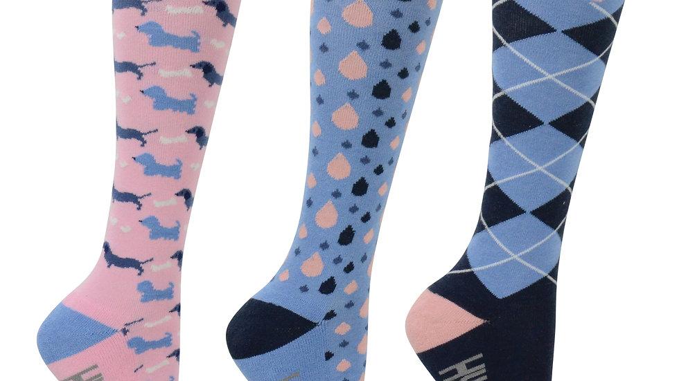 HY FASHION Liza Dog Print Socks (Pack of 3)