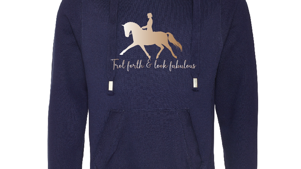 'Trot Forth' Cowl Neck Hoody