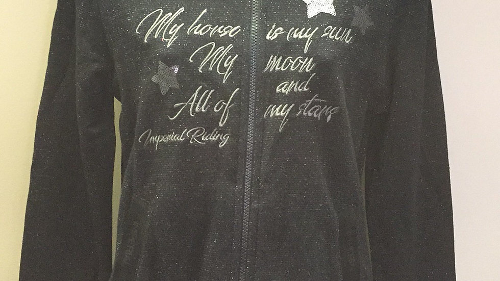 Imperial Riding Sparkle Black hooded sweat