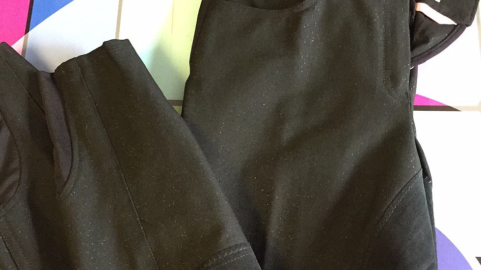 Imperial Riding Black Full Suede Seat Breeches