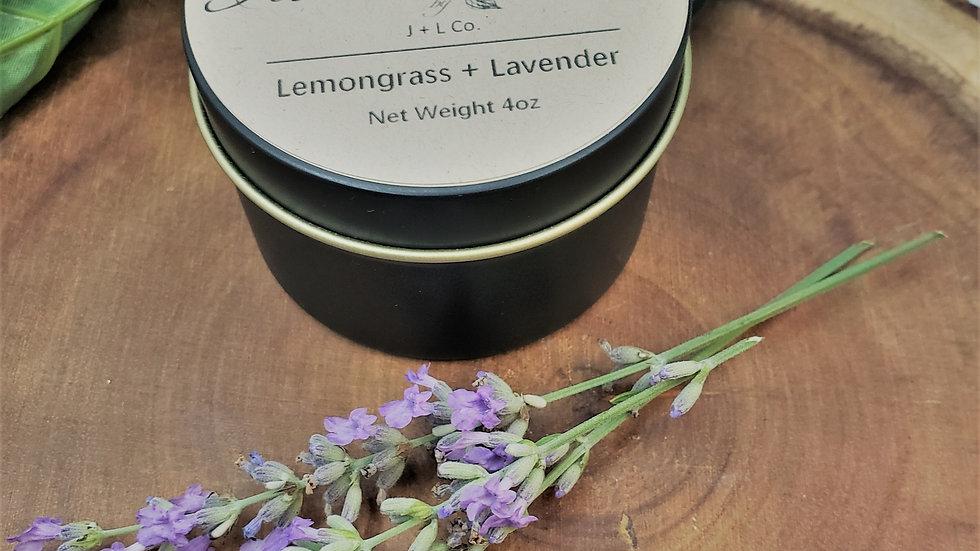 Lemongrass + Lavender Soy Candle 4oz