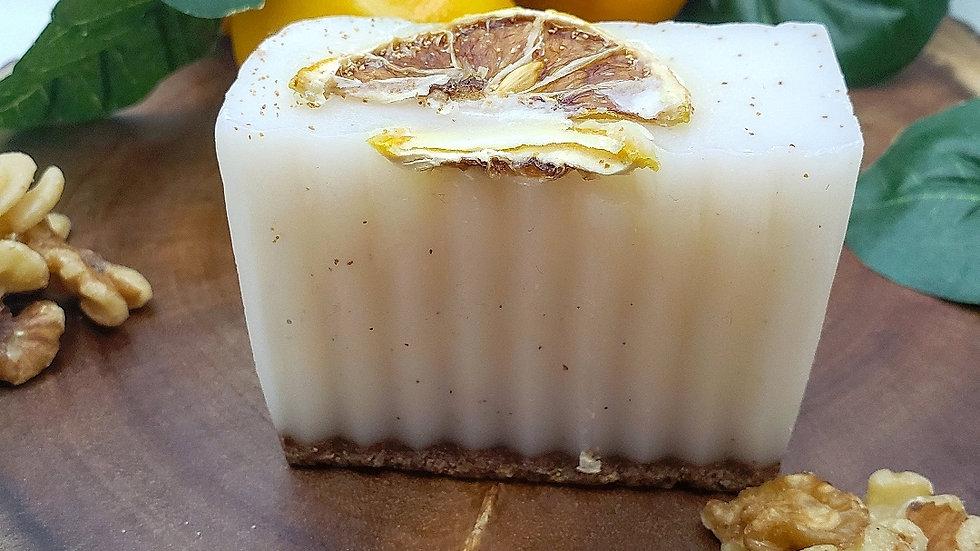 Lemon +Walnut Scrub Soap