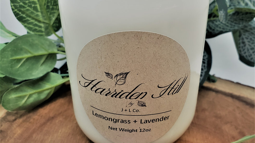 Lemongrass + Lavender Soy Candle 12oz