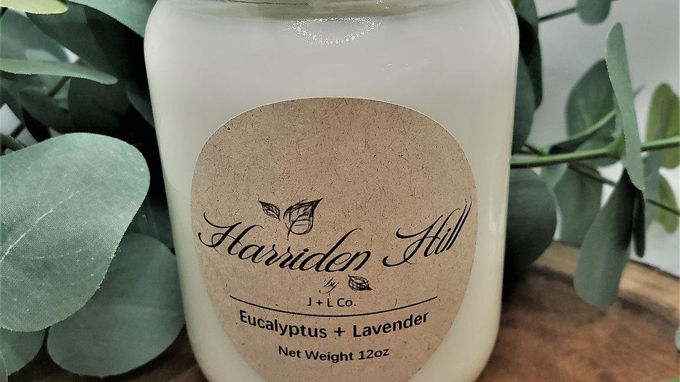 Eucalyptus + Lavender Soy Candle 12 oz