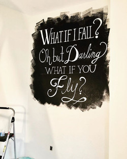 What if I Fall Word Mural