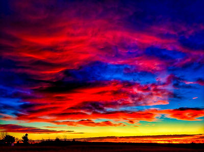 rainbow sky, skyline, colored clouds, awesome sunset, barry linville, nature photography