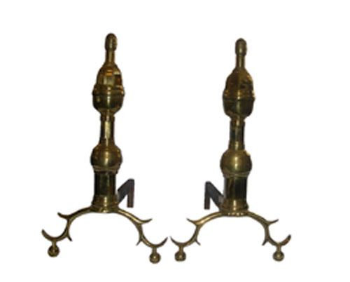 1780 Brass Spur Foot with Oval Finial