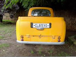 Yellow truck, Clarens number plate