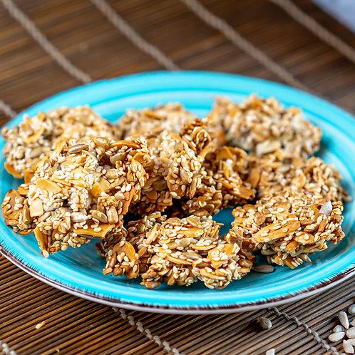 עוגיות בריאות - שקדים, שומשום, גרעיני חמניה - ללא קמח