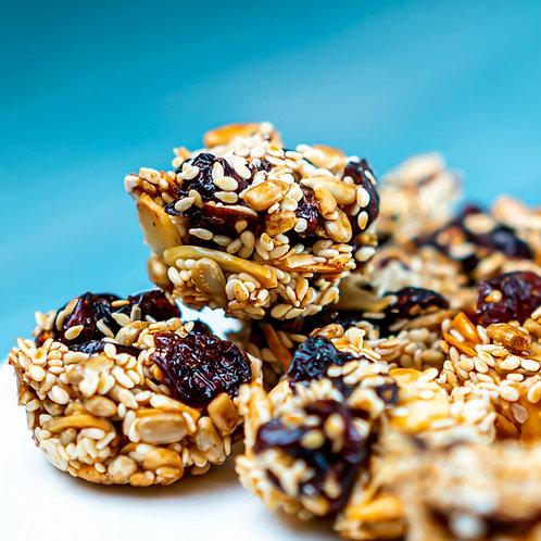 עוגיות בריאות - שקדים, שומשום, גרעיני חמניה, חמוציות