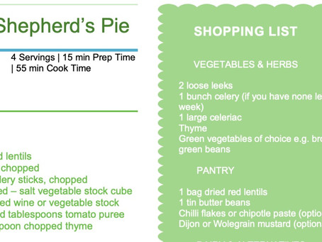 Plant Based Eating: Lentil Shepherd's Pie Recipe