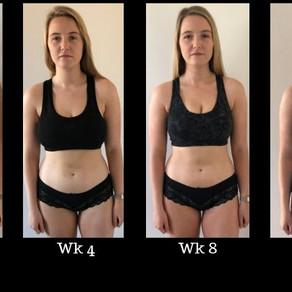 12 Week Transformation - Olivia and Healthista.com
