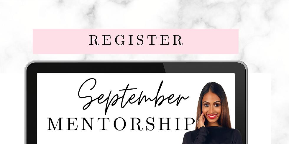 September Mentorship