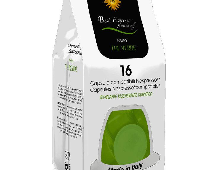 Dosettes de thé vert pour nespresso