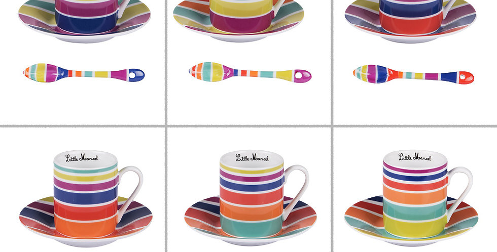 COFFRET 6 TASSES A CAFÉ LITTLE MARCEL 10 CL