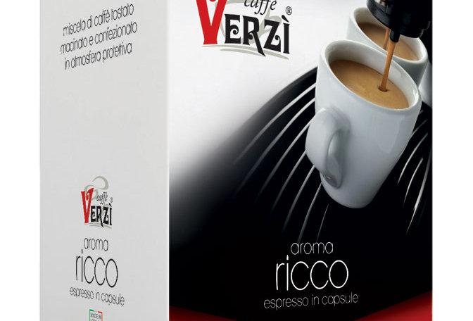 100 CAPSULES VERZI CAFFÉ AROMA RICCO COMPATIBLES LAVAZZA POINT