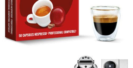 50 CAPSULES DE CAFE SEMI CORSE COMPATIBLES NESPRESSO PRO