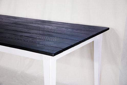 Большой обеденный стол «Лонг Блю» из дерева