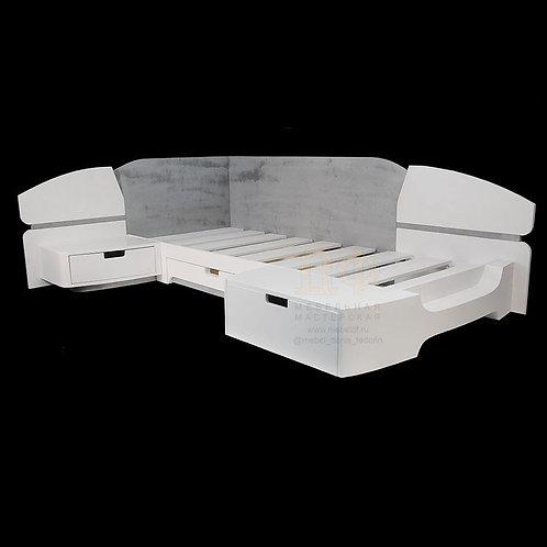 Кровать детская угловая «Космос»