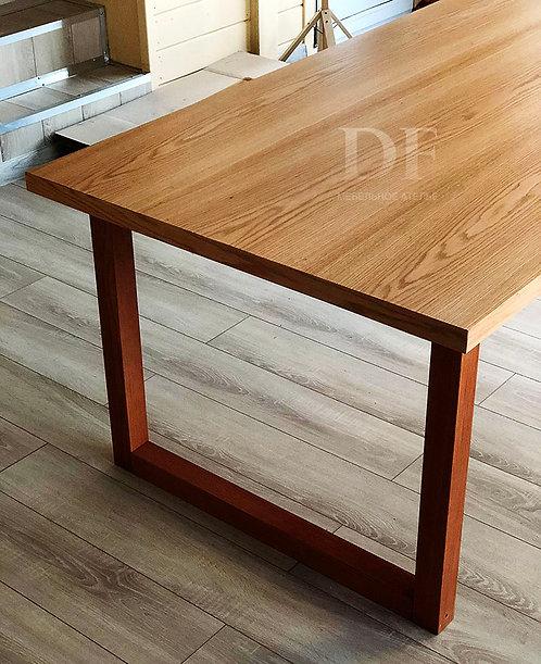 Большой стол «Лофт» натуральный шпон
