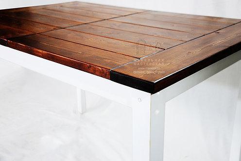 Обеденный стол «Деревенский» из дерева