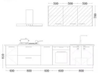定制廚櫃尺寸數據大全