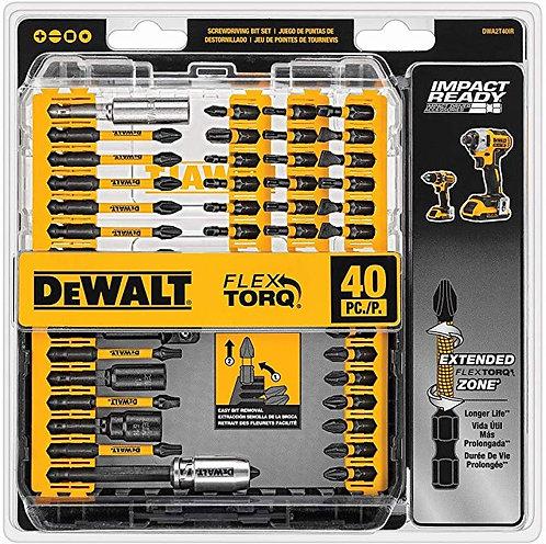 DEWALT DWA2T40IR IMPACT READY FlexTorq 螺絲刀套組,40 件裝