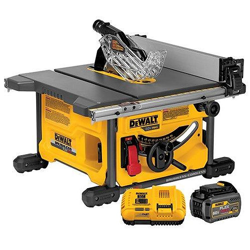 "美國得偉無線裁床鋰電池桌鋸組60V DEWALT DCS7485T1 FLEXVOLT 60V MAX Table Saw Kit, 8-1/4"""