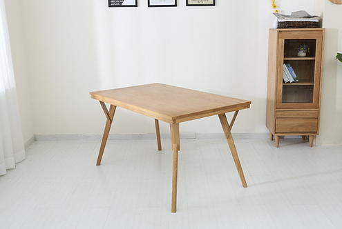 北歐白橡木日式實木餐桌