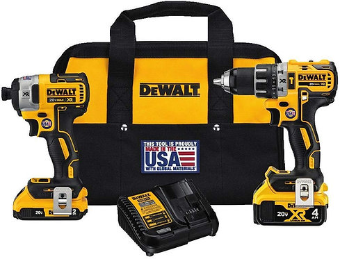 DEWALT DCK287D1M1 20V Cordless Hammerdrill and Impact Driver Combo Kit 德偉充電式鎚鑽