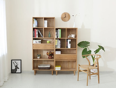 北歐白橡木高身書櫃