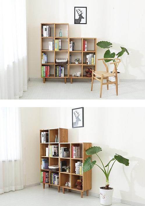 北歐白橡木簡約書架