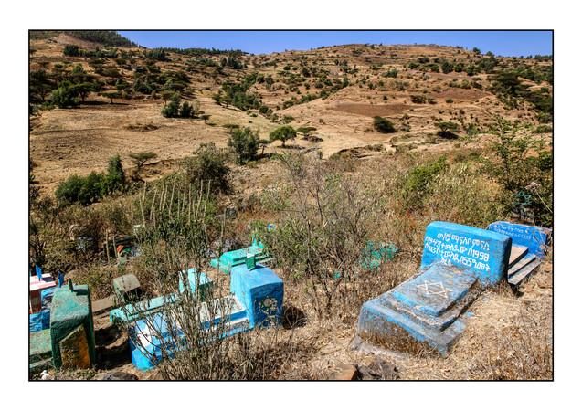 Abantonios Beta Israel Cemetery.  Robit, Gondar, Ethiopia.